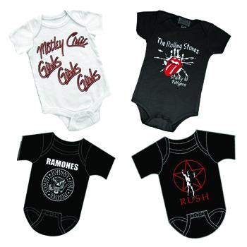 Rock n roll infant body suits rocker rags